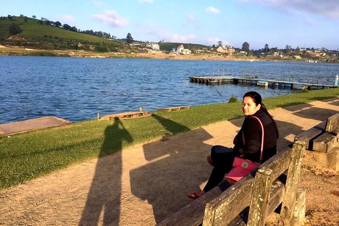 beautiful lake side view