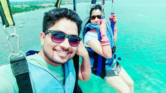 Brijendra and his wife in Bali