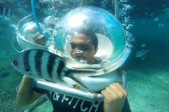ile aux cerfs undersea walk