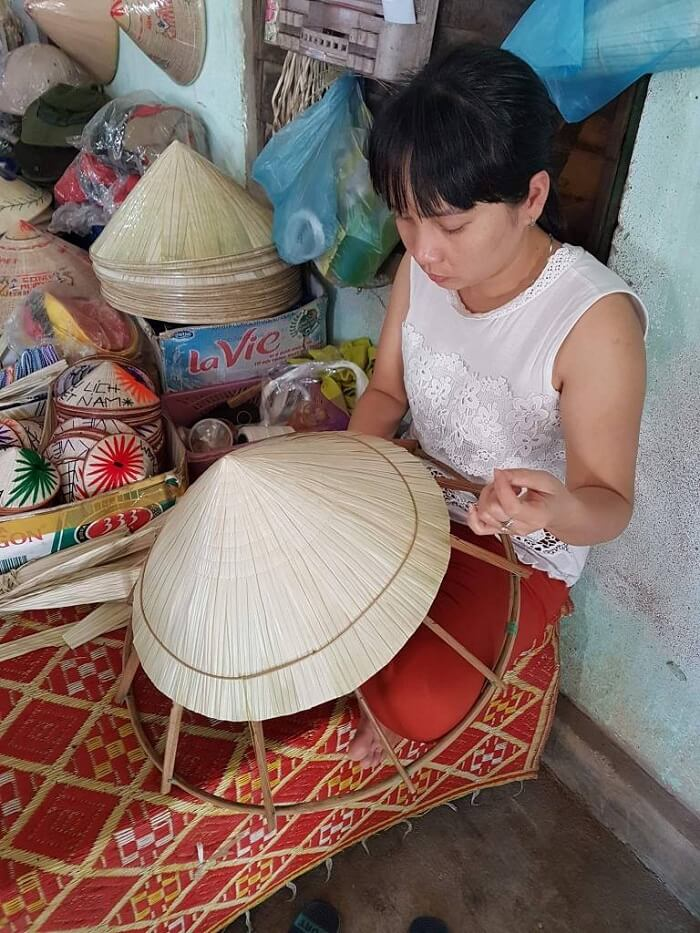 conical hat making villages in vietnam