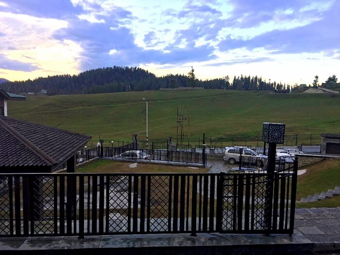 view from gulmarg hotel