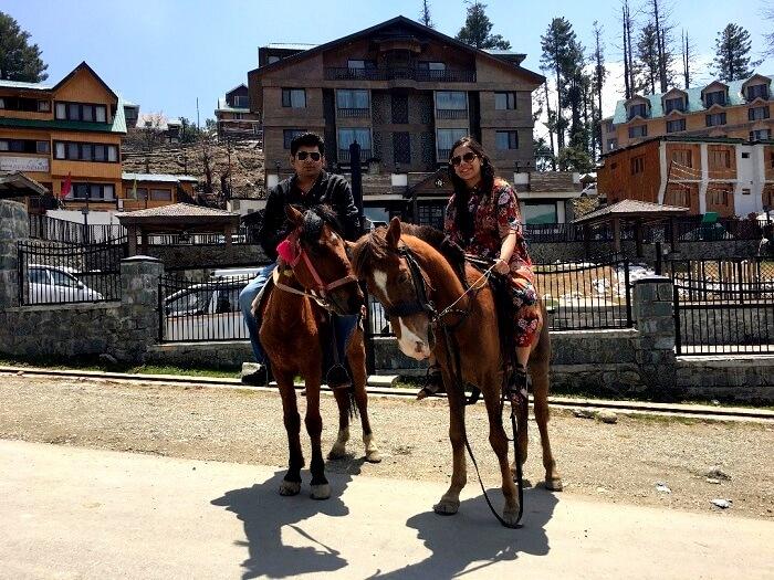 horse ride in gulmarg