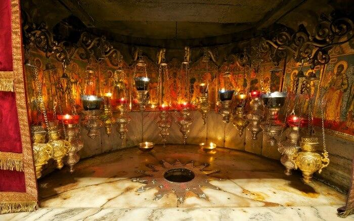 Interior view of Stern Von in Bethlehem in Israel