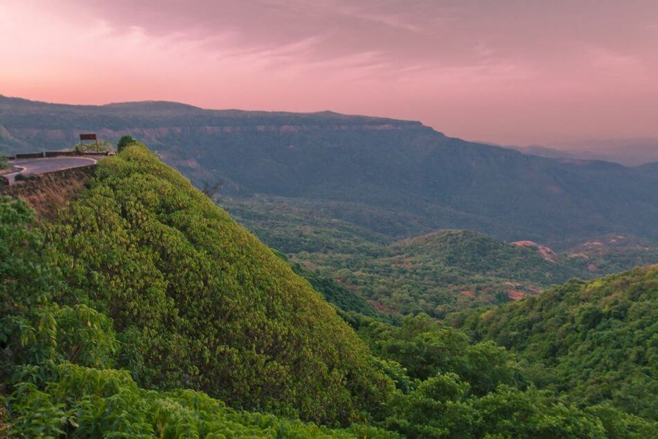 mountains of Agumbe during sunset