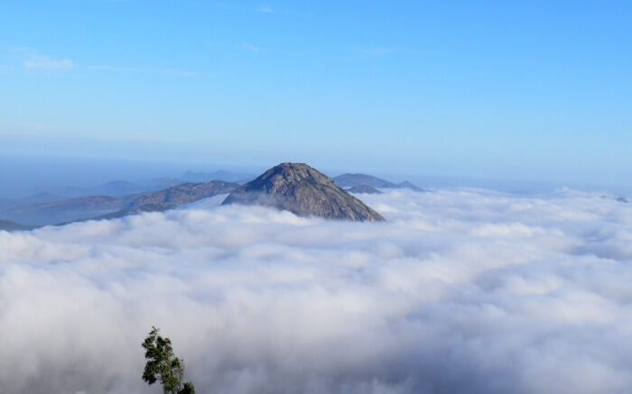 Nandi hills submerged in cloud