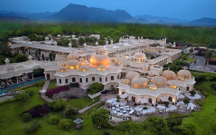 Ariel view of Oberoi Udaipur