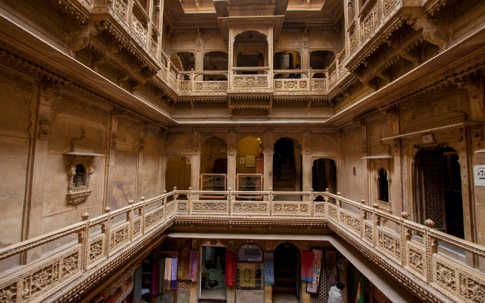 Patwon Ki Haveli interior in Jaisalmer