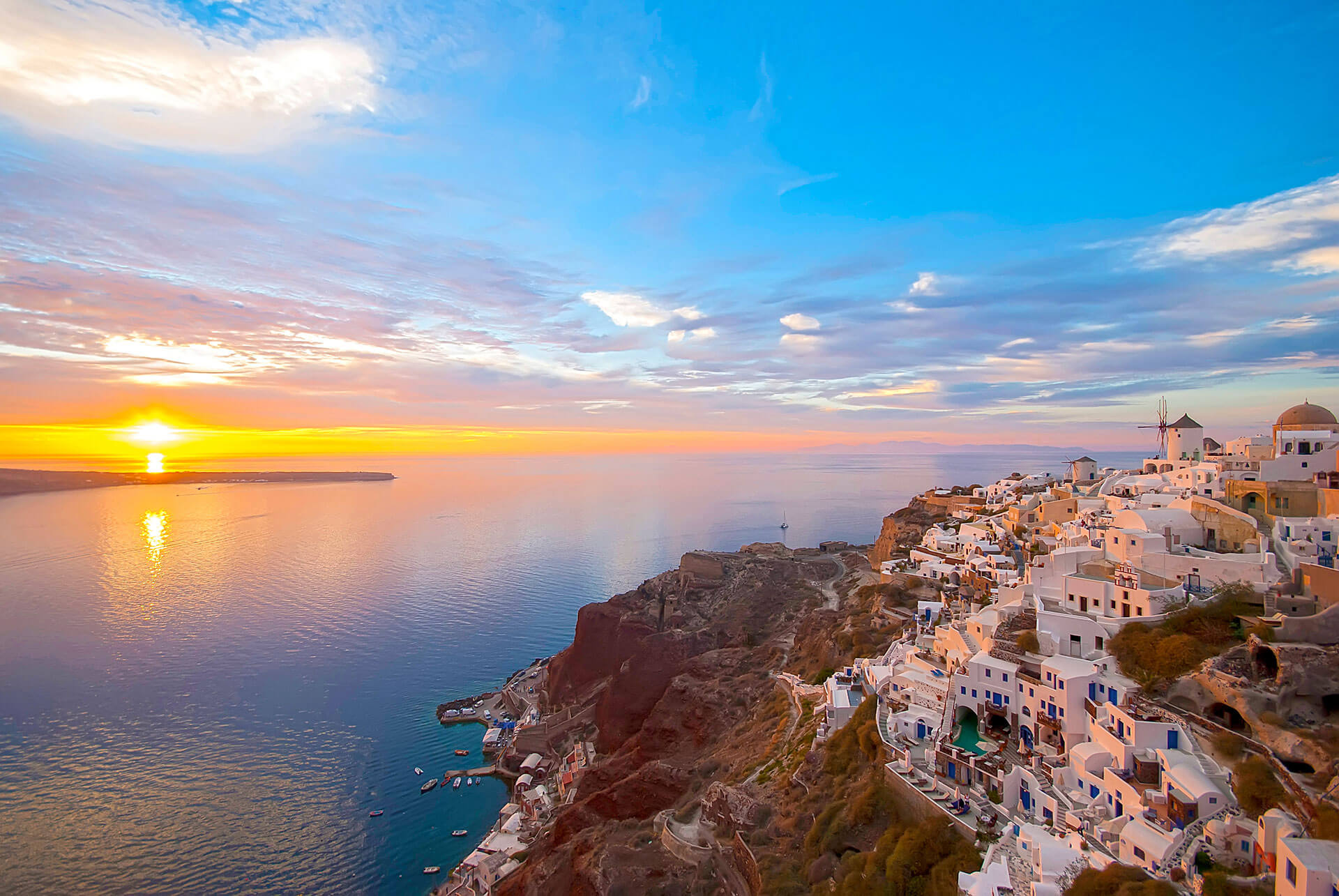 Sunset view from Oia Village
