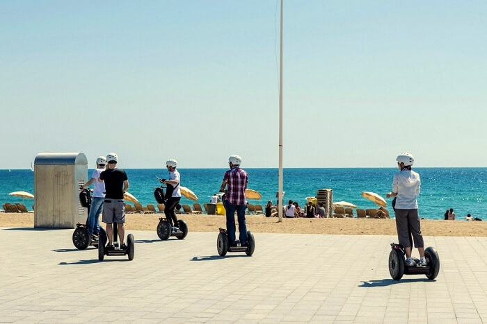 beach promenade barcelona
