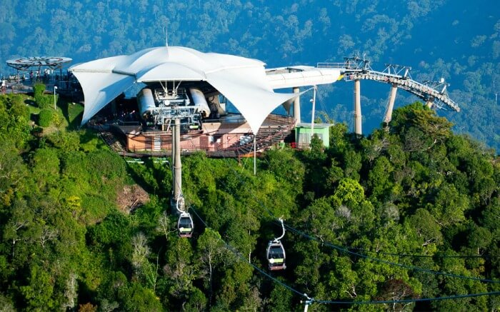 Sky cable car station in Langkawi