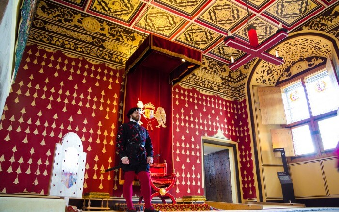 Interior of Stirling Castle in Scotland