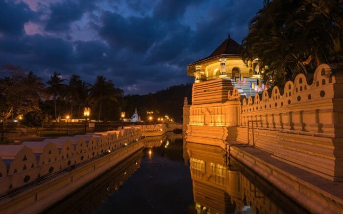 The exterior view of Temple of Tooth Relic in Kandy