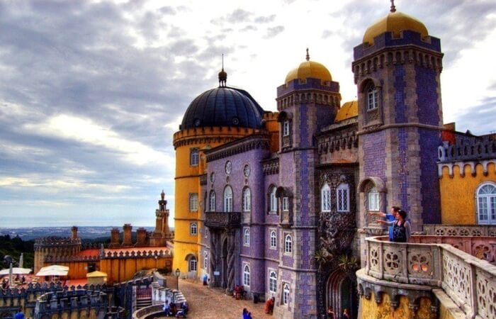 A historical building in Sintra in Portugal
