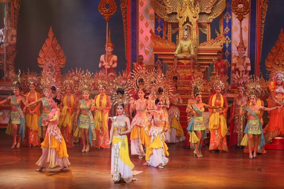 ladyboys dancing in Tiffanys Cabaret Show