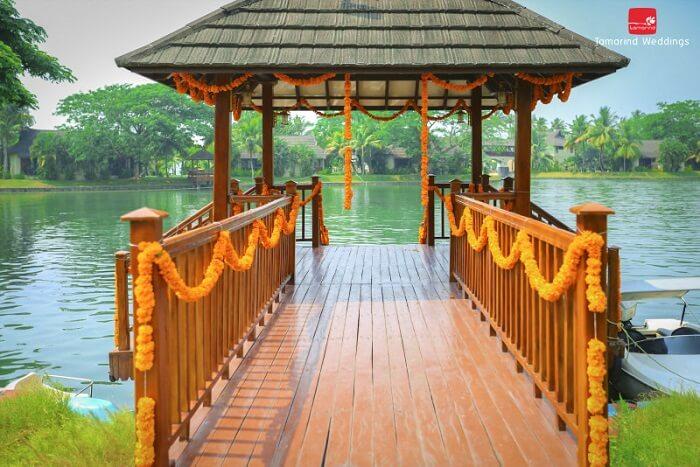 backwater theme wedding kerala
