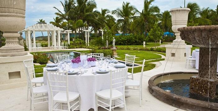 reception at sandals bahamas