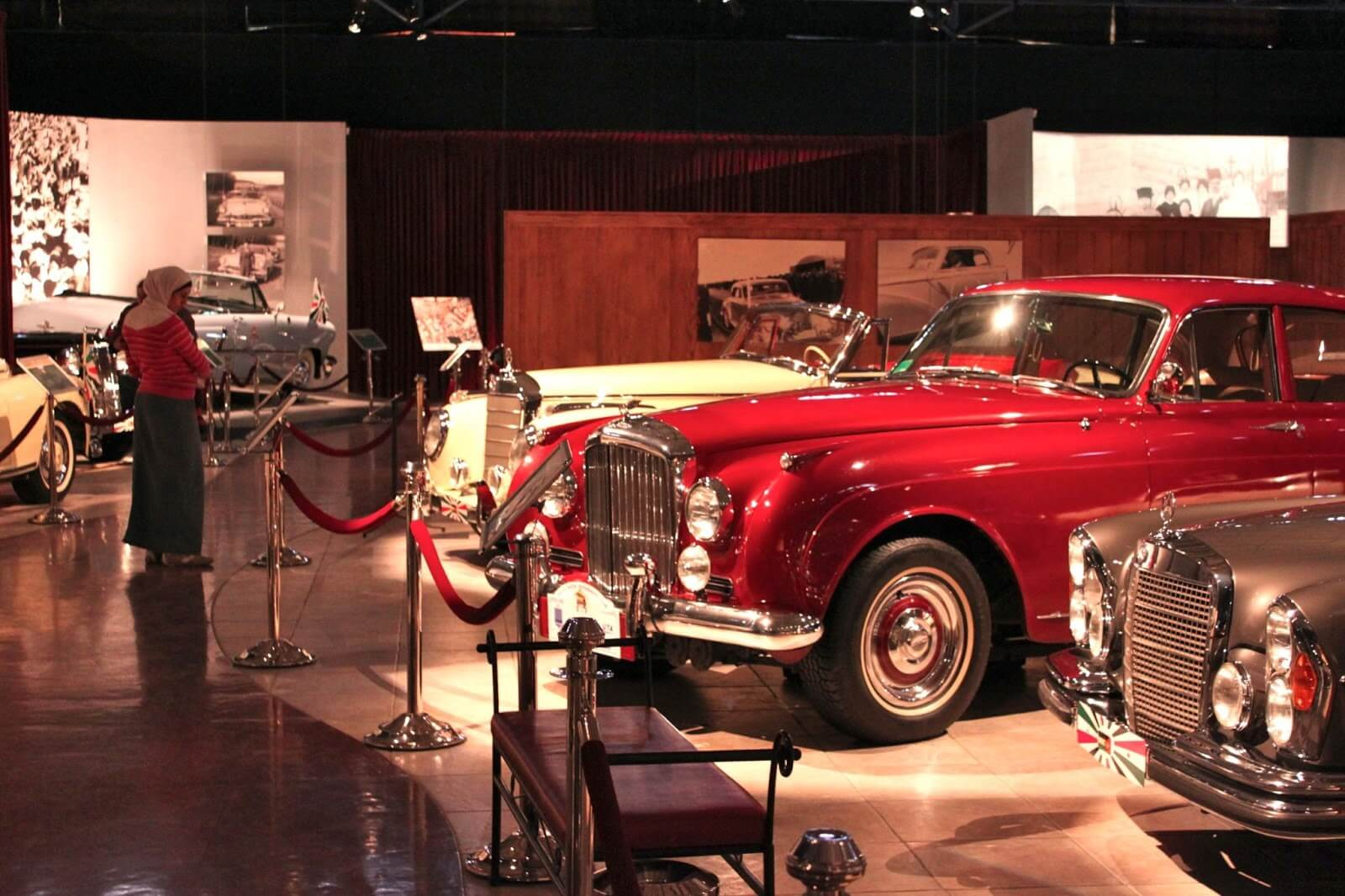 classic cars in Royal Automobile Museum in Amman