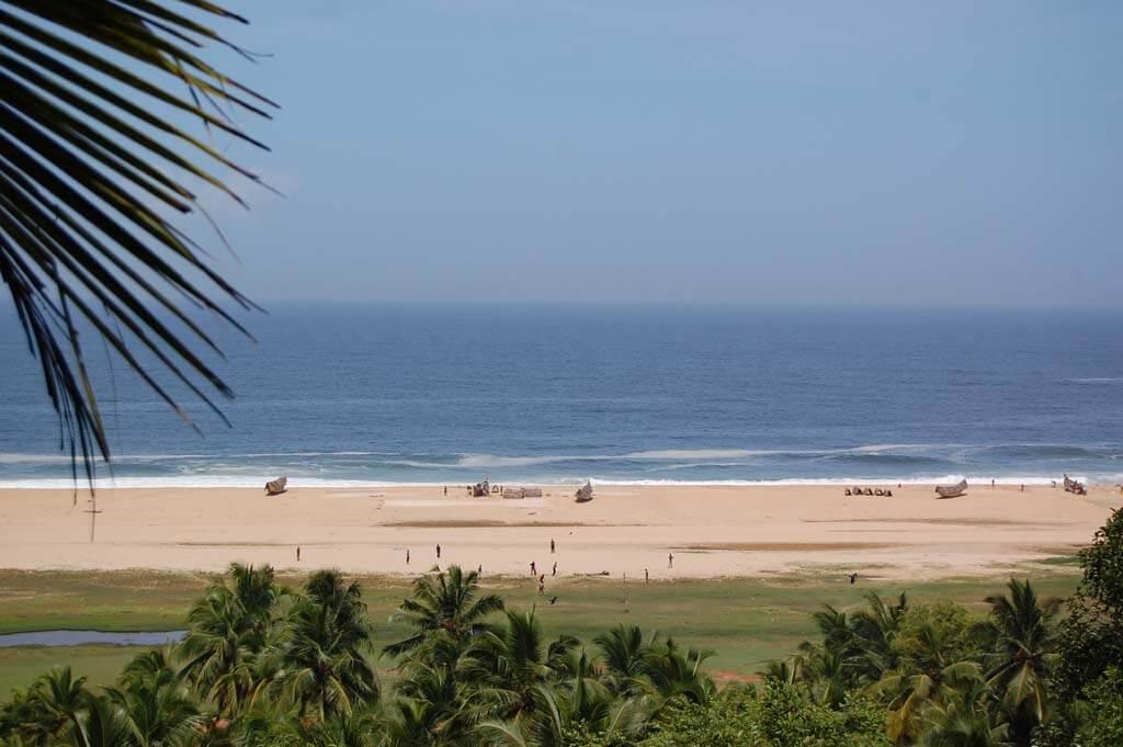 Chowara Beach in Chowara Village