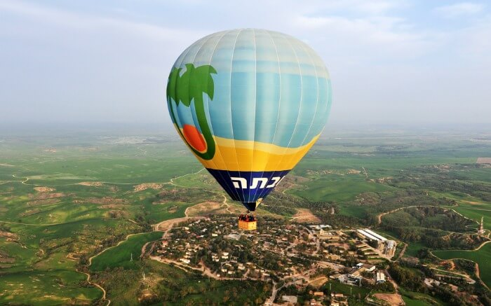 hot air balloon ride in Israel