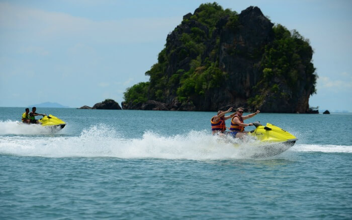 jet skiing in Langkawi
