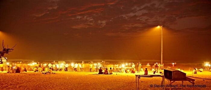 juhu chowpatty during night