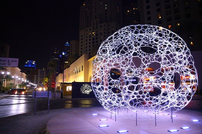 A shot from the RWAQ tour at The Walk at JBR in Dubai