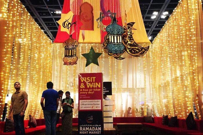 A snap from the Ramadan Night Market in Dubai