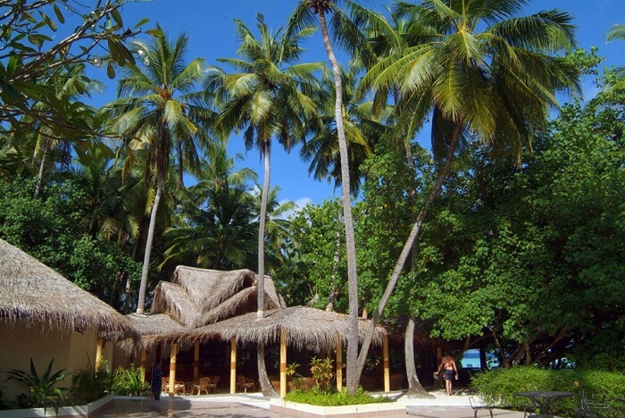 A shot from the Biyadhoo Island Reosrt on the Biyadhoo Island in Maldives