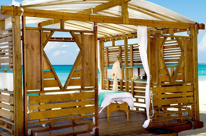 A beachside cabana spa at The Westin Grand Cayman on the Cayman Islands