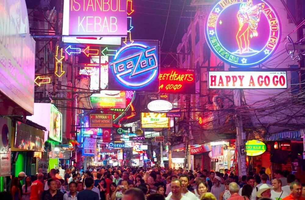 Pattaya nightlife on Walking Street