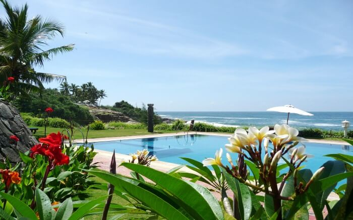 sea view from Bethsaida Hermitage resort Kovalam
