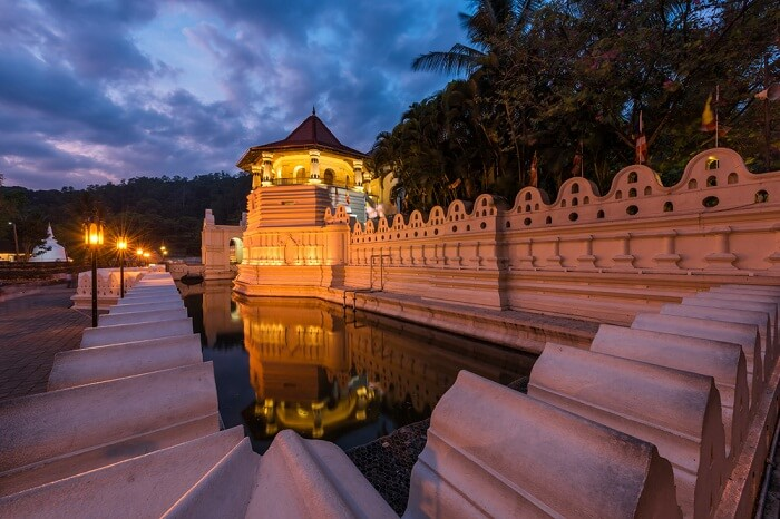 Temple of the Sacred Tooth Relic at Kandy in Sri Lanka