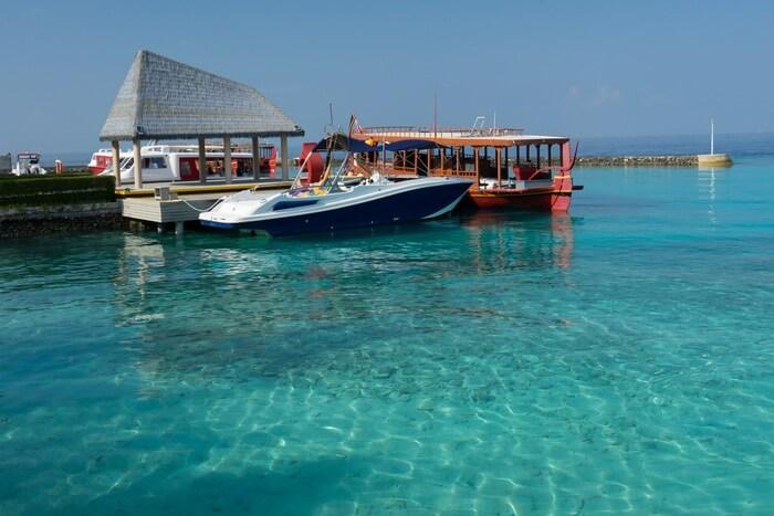 The Marina at the Maafushi Island in Maldives