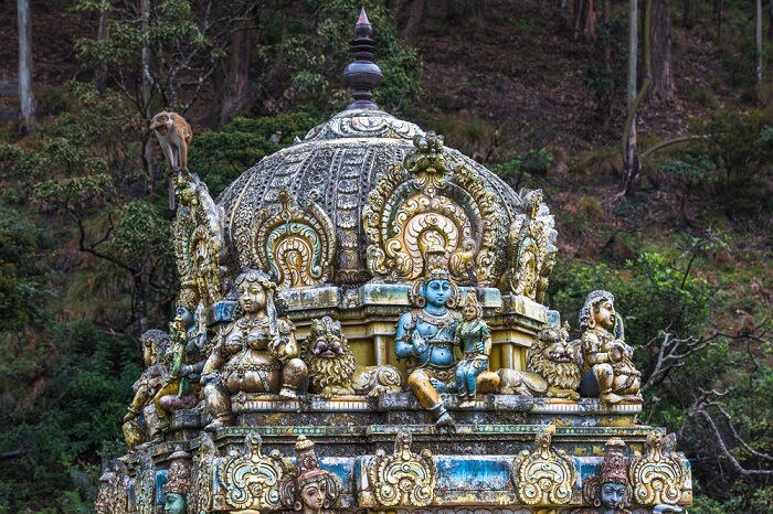 A shot of the Seetha Amman Hindu temple in Nuwara Eliya district of Sri Lanka