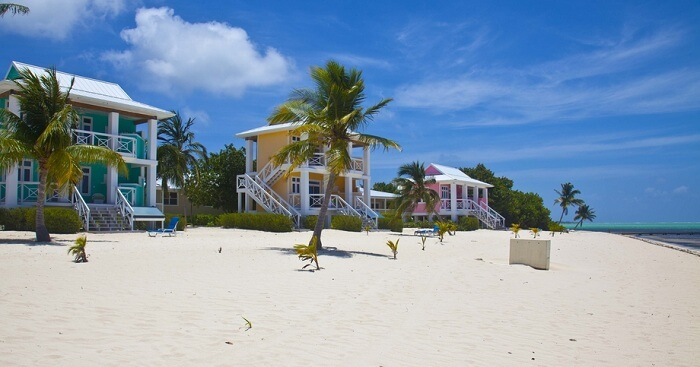 Cottages on the shore of the Little Cayman island