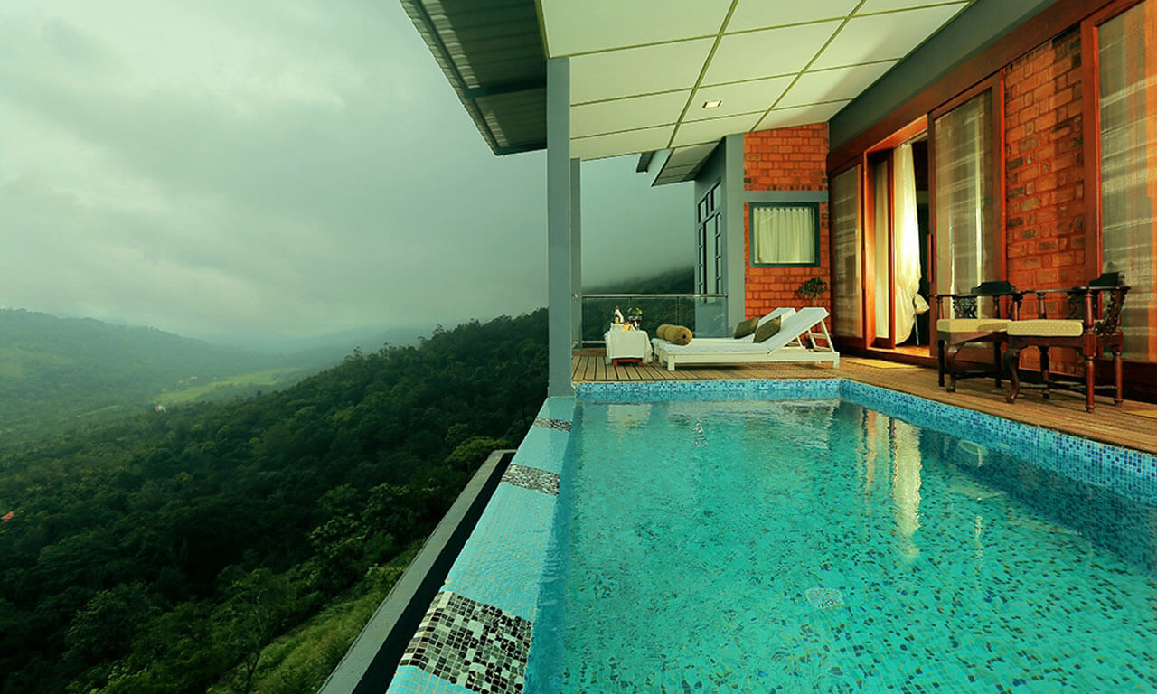 a private pool at SpiceTree Munnar