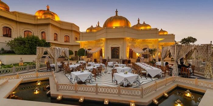 wedding reception udaivilas india