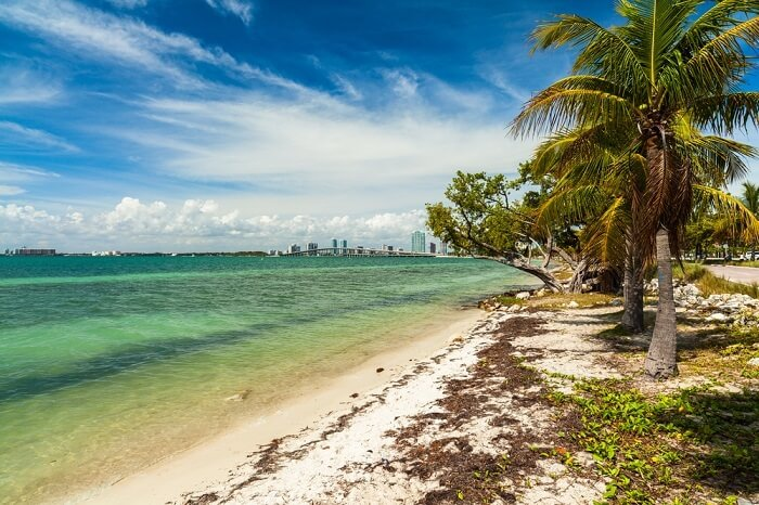 secluded beach in miami