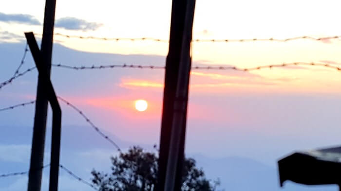 sunrise in darjeeling