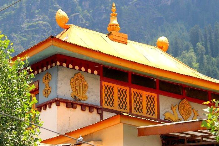 Buddhist monastery in Manali