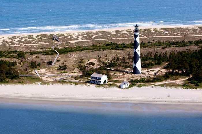 Lighthouse at Roanoke Island North Carolina