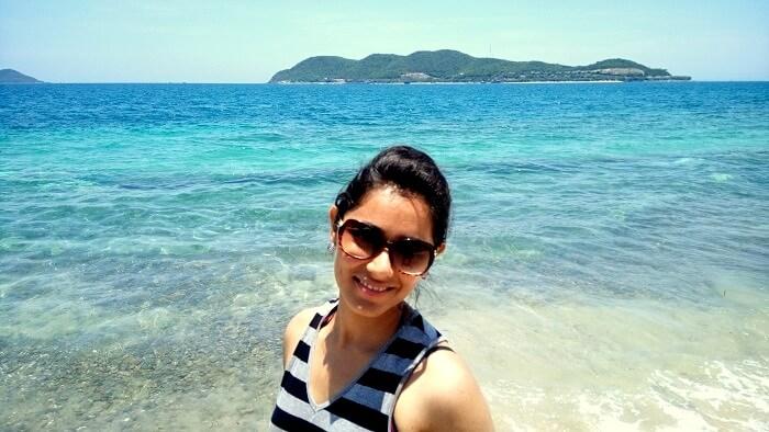Scenic backdrop in Nha Trang