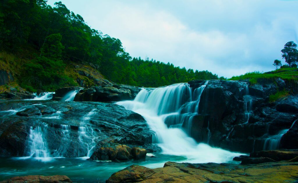 a gorgeous waterfall in Ooty