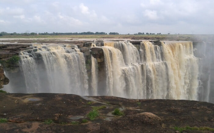 A big and muddy waterfall in Rewa