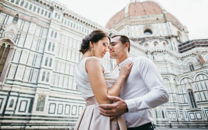 A couple in Italy