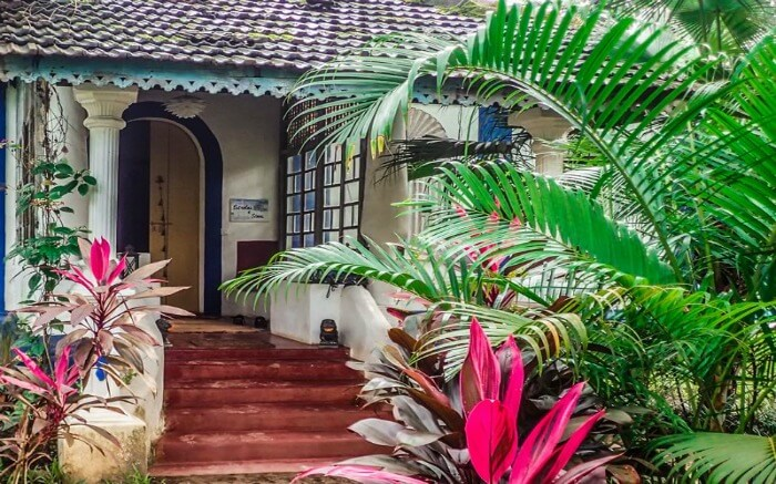 A view of one of the cottages of The Secret Garden homestay in Goa