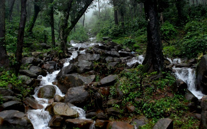 A waterfall in Chikmaglur