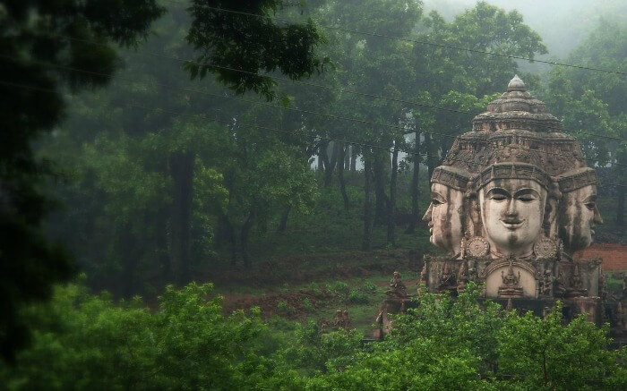 An ancient architecture in the jungles of Amarkantak