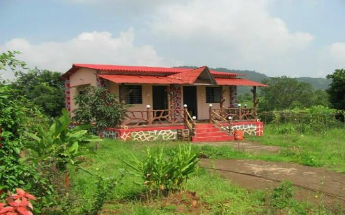 Beautiful view of a cottage of Ajol Homestay in Maharashtra