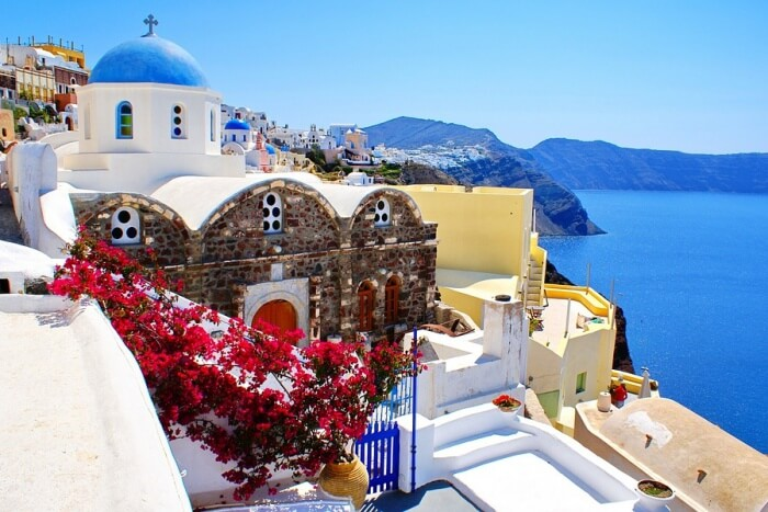 Island Travel Sea Santorini Summer Europe Greece